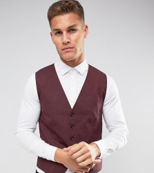 Selected Homme Waistcoat with Stretch in Slim Fit - Red