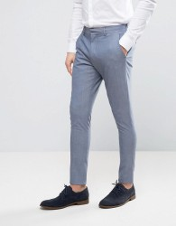 Selected Homme Wedding Super Skinny Suit Trousers - Blue