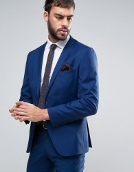 Selected Skinny Fit Suit Jacket - Blue