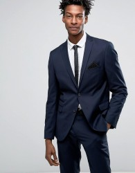 Selected Skinny Fit Suit Jacket - Navy