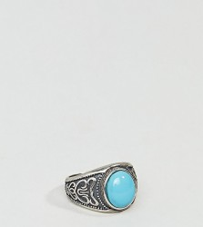 Serge DeNimes Turquoise Stone Ring In Solid Silver - Silver