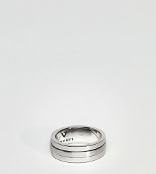 Seven London Band Ring In Sterling Silver - Silver