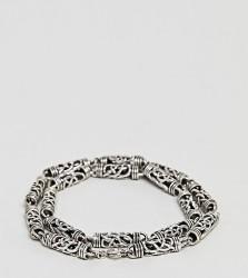 Seven London Detailed Chain Bracelet In Sterling Silver - Silver