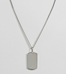 Seven London Sterling Silver Dog Tag Necklace In Silver - Silver