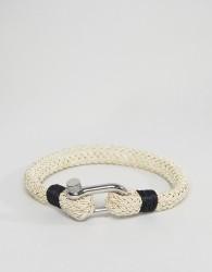 Seven London Woven Bracelet In Cream - White