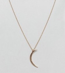 Shashi 18K Gold Plated Moon Pendant Necklace - Gold