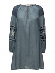 Sheer Cotton Tunic Dress With Special Embroideries