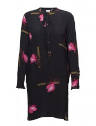 Shirt Dress W. Mokuren Print