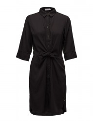 Shirt Dress W. Tie Knot And Drape