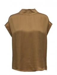 Short Sleeve Top W. High Collar