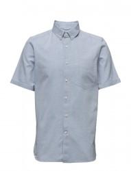 Short Sleeved Yarn Dyed Striped Shi