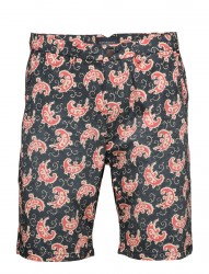 Short With All-Over Print And Subtle Wash Effect