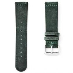Sidegren Grøn Urrem - Sølvspænde