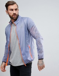 SikSilk Windbreaker Jacket In Blue - Grey