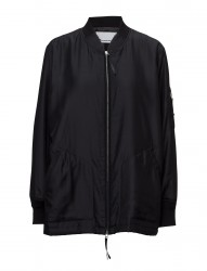 Silk Cotton Habotai Lightly Lined Oversized Bomber