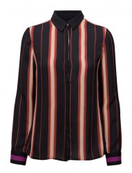 Silky Feel Button Up Shirt In Stripe Or Colour Block