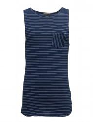 Singlet In Jersey With Yarn-Dyed Stripe Pattern