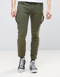 Sisley Cargo Trousers In Slim Fit - Green