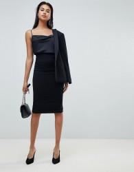 Sisley classic zip back midi skirt - Black