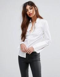 Sisley Double Collar Shirt - White