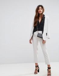 Sisley Elasticated Waist Tailored Trouser - Cream
