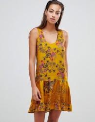 Sisley floral smock mini dress - Yellow