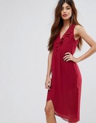 Sisley Frill Midi Dress - Pink