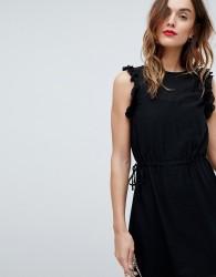 Sisley Frill Sleeve Mini Dress - Black
