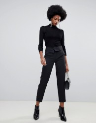 Sisley high waisted tailored trouser - Black