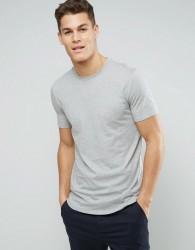 Sisley Longline T-Shirt With Curved Hem - Grey