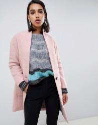 Sisley oversized ovoid coat - Pink