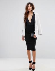 Sisley Pencil Skirt With Zip Back - Black