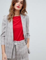 Sisley Pink Check Double Breasted Blazer - Multi