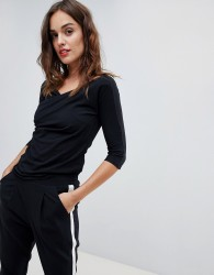 Sisley Rouched Fitted Top - Black