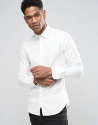 Sisley Shirt In Slim Fit - White