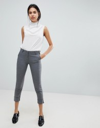 Sisley Smart Turn Up Trousers - Grey