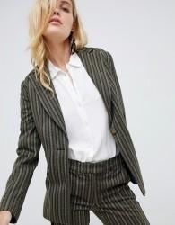 Sisley stripe tailored blazer - Green