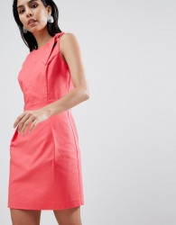 Sisley Tailored Dress With Hardware Detail - Pink