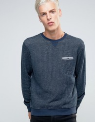 Sisley Textured Sweat with Pocket Detail - Navy