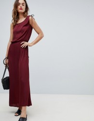 Sisley Tie Waist Maxi Dress - Red