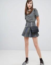 Sister Jane mini skirt in check co-ord - Blue