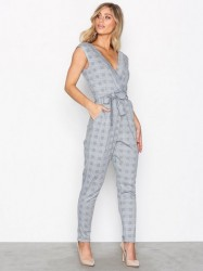 Sisters Point Greb-JU Jumpsuit Jumpsuits Check Pattern