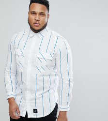 Sixth June Shirt With Blue Stripes exclusive to ASOS - Blue