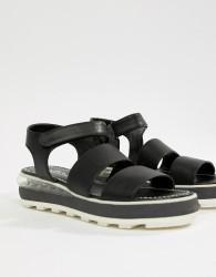 Sixty Seven Flatform Heeled Sandals - Black