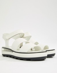 Sixty Seven Flatform Heeled Sandals - White