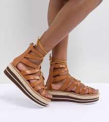 Sixty Seven Heeled Flatform Sandals - Tan