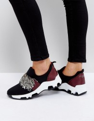 SixtySeven Black Embellished Trainers - Black