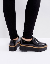 Sixtyseven Chunky Sole Lace Up Shoes - Black