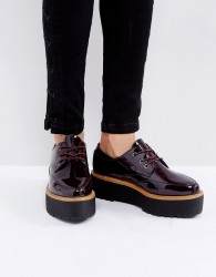 Sixtyseven Chunky Sole Lace Up Shoes - Red
