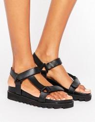Sixtyseven D-ring Flatform Sandal - Black